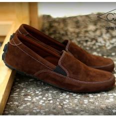 Sepatu Pria Kasual Slip-On / Semi Formal Terbaru - GOODNESS FOOTWEAR SWIFT - Hitam / Coklat