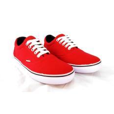 Tips Beli Sepatu Pria Kets Sneakers Merah Yang Bagus