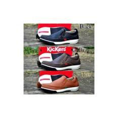 Sepatu Pria Kickers Casual Santai Slipon Slop Formal Kerja- Pilih Warna Sesuai Minta Gan