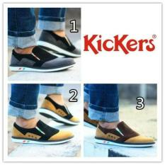 Sepatu Pria Kickers Slip On Casual Trendy Made In France Asli Import - B36A5D