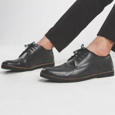 Sepatu Pria Lazada Pantofel Kulit Giant Flames Fuerte Black