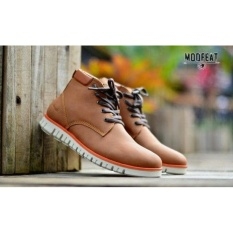 Obral Sepatu Pria Moofeat Bumble Tan Original Boots Premium Quality Murah