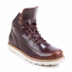 Sepatu Boots/Casual Kulit Pria Branded Navara Herrick Boots Dark Brown