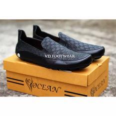 Beli Sepatu Pria Ocean Lucky Sepatu Casual Pria Slop Slip On Loafers Santai Formal Kerja Sepatu Pantofel Dengan Harga Terjangkau
