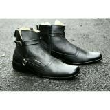 Sepatu Pria Original Pantofel Kulit Asli Cevany Paccuan Black Terbaru