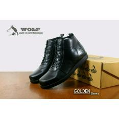 sepatu pria original wolf footwear boots kulit asli brodo golden series fashion leather boots casual man manic