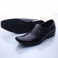 Sepatu Pria Pantofel Kulit Asli Slip On Formal Premium Black 075Ht