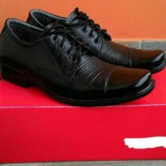 Sepatu Pantofel Pria Bahan Kulit Sapi 100% Merek  Kickers Untuk Formal Kerja Resmi Model Tali
