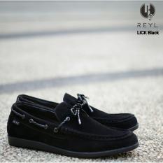 Sepatu Pria Rey Original Lick series black Formal Kuliah Santai