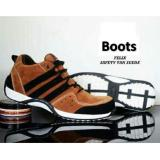 Harga Sepatu Pria Semi Boots Felis Tan Ujung Besi Safety Baru Murah