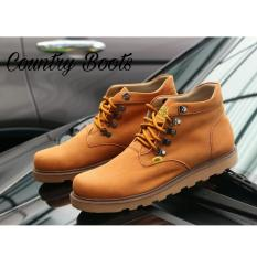 Sepatu Pria Semi Boots Kulit Asli Branded Terlaris - COUNTRY BOOTS RING - Tan