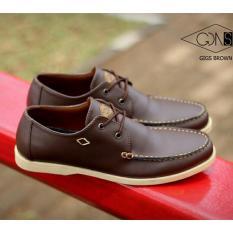 Sepatu Pria Semi Formal / Casual Remaja dan Dewasa - GOODNESS FOOTWEAR GIGS - Hitam / Coklat