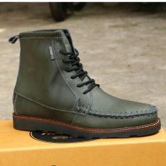 Sepatu Boots Pria Semi Formal Casual / Tactikal Boots High Kulit Asli Terbaru - CEVANY MEMPHIS - Hitam / Coklat / Hijau Army