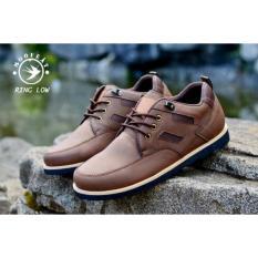 Spesifikasi Sepatu Pria Semi Formal Low Boots Orginal Moofeat Ring Brown Terbaru