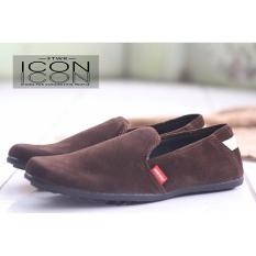 Jual Sepatu Pria Slip On Casual Sepatu Loafer Sepatu Icon Original Abadon Coklat Antik