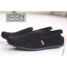 Jual Sepatu Pria Slip On Casual Sepatu Loafer Sepatu Icon Original Abadon Hitam Lengkap