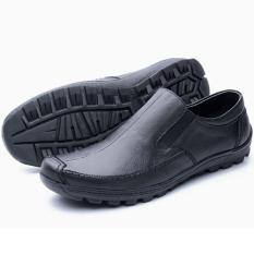 Sepatu Pria Slip On Kulit Asli Handmade Casual Formal Street