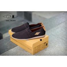 Diskon Sepatu Pria Slip On Original Goodness Viral Brown Premium Quality Jawa Barat