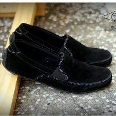 Sepatu Pria Slop Slip-On Semi Formal / Casual - GOODNESS FOOTWEAR SWIFT - Hitam / Coklat
