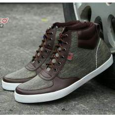 Sepatu Pria Sneakers High Santai / Casual Model Terbaru - DR BERCCO - Hitam / Coklat / Biru Dongker
