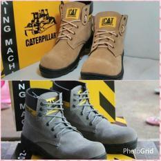 Sepatu Pria TERMURAH Sepatu Safety Boots Caterpillar Murah ORIGANAL HANDMADE BANDUNG