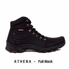 Cuci Gudang Sepatu Pria Tracking Hummer Athena Full Black
