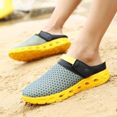 Sepatu Rendam Pria Sepatu Pantai Nyaman Sepatu Trekking Anti Selip Udara Sepatu Olahraga Oleh Kumpulan Orang Mendaki Sepatu Jala Kets sandal Pria Wading Pria Sepatu Pantai Udara Trekking Sepatu Daki Gunung Sepatu Jaring Sepatu Sneakers