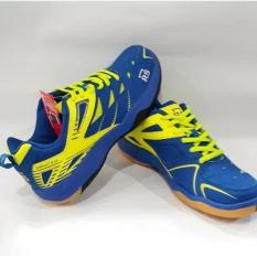 Sepatu RS Sirkuit 573 warna BIRU/KUNING BADMINTON SHOES JUAL PERLENGKAPAN BULUTANGKIS ADHA SPORT STORE