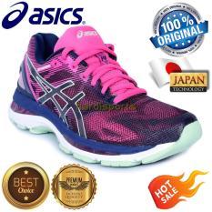 Sepatu Wanita Running Fitness Asics Gel Nimbus 19 T750N-4987 - Indigo Blue Green
