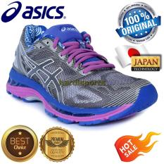 Sepatu Wanita Running Fitness Asics Gel Nimbus 19 Lite Show T754N-9700 - Carbon Snow
