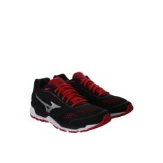 Sepatu Running Mizuno J1GR165578 Mizuno Synchro MX - Black Silver High Risk Red