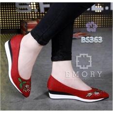 Sepatu rwaita wedges emory garden merah sepatu wedges wanita sepatu emory garden