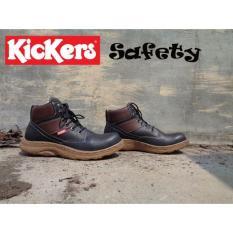 Sepatu Safety Boots Kickers Adreno Warna Hitam