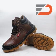 Sepatu Safety Boots Kulit Sapi Asli Type Jeruk P1