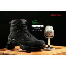 Sepatu safety Boots Pria Armour safety Black