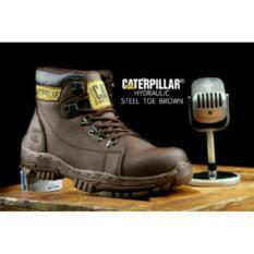 Sepatu Safety Boots Pria caterpillar Model Armour Delta hiking lapangan tracking hydrolic gunung