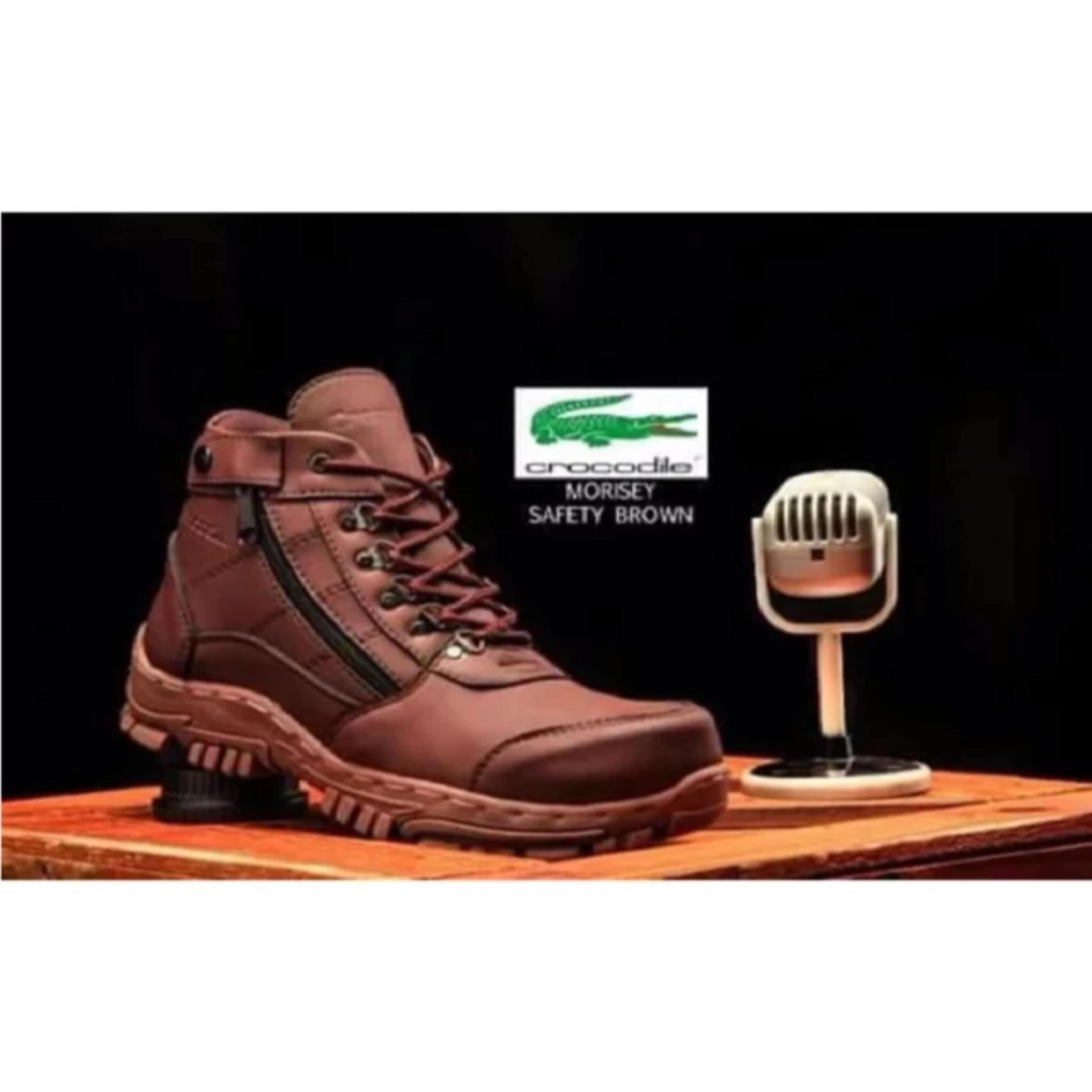 Sepatu Safety Octopus OX 507 Source Sepatu Safety Boots Pria Hand Made Model Armour Kualitas Terbaik