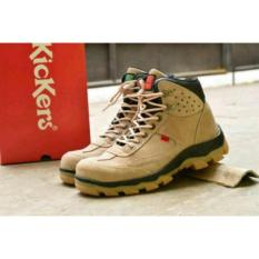 Harga Sepatu Safety Kickers Leather Suede Safety Hitam Tan Cokelat Krem Grey Termahal