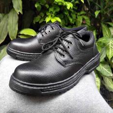 Sepatu Safety KULIT SAPI ASLI tali pendek