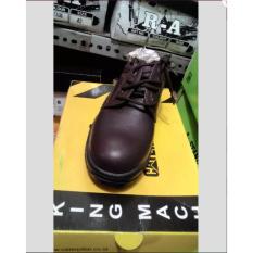 Sepatu Safety RA Coklat Kulit Jeruk Coklat