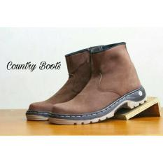 Sepatu Safety Resleting Kulit Asli Country Boot Original Black / Brown - Dd7da7