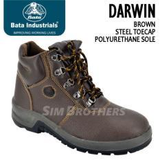 Sepatu Safety Shoes Bata Darwin Brown - 4Dd4gq