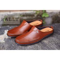 Sepatu Sandal Bally Switzerland Bustong Kulit Asli Slop Pantofel  - Sepatu Sandal Pantofel Pria Kickers - Sandal Pria Slop