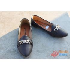 Sepatu Sandal Flat Shoes Wanita Murah Gucci Style BRM16 - Choco