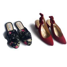 Sepatu Sandal Heel Wanita Satu Harga Dapat 2 Pasang VIO GB09