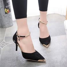 Jual Sepatu Sandal High Heels Wanita Black Sh37 Apmol Original