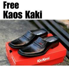 Sepatu Sandal Kickers Bustong - Sepatu Pantofel Kickers -Sandal Pria Kulit