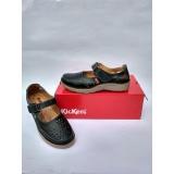 Sepatu Sandal Motif Flower Kickers Wanita Black Murah
