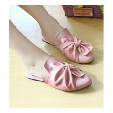 sepatu sandal selop wanita pita ikat hitam moca salem murah