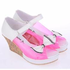 Sepatu Sandal Sendal Wedges Anak Perempuan Cewek Pink Komb CMP 604 CR-Sandal Cantik